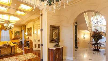 A glimpse inside the lavish mansion at 36 Dickson Tce, Hamilton.
