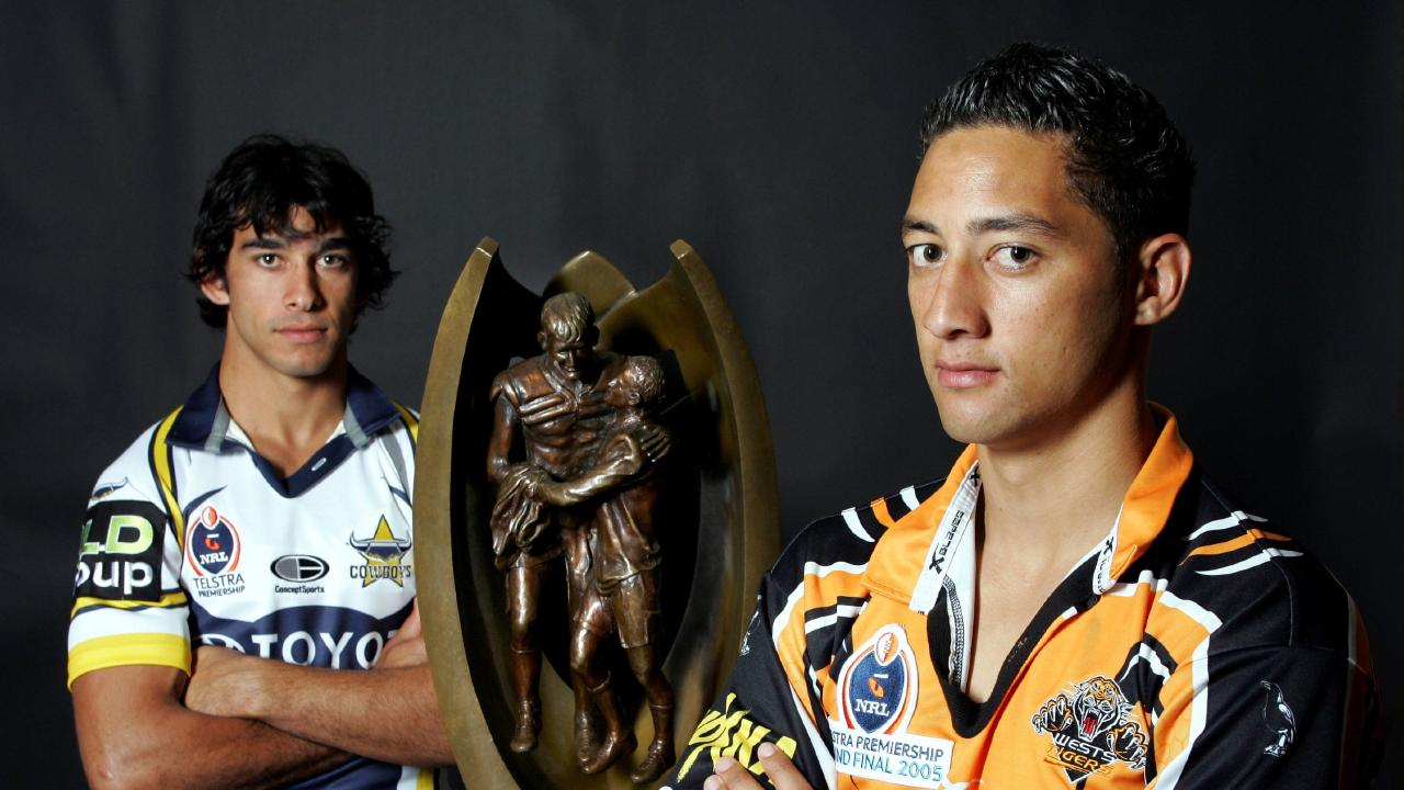 Johnathan Thurston and Benji Marshall clashed in the 2005 grand final.