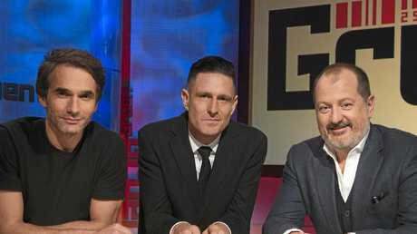 Todd Sampson, Wil Anderson and Russel Howcroft from ABC's Gruen.