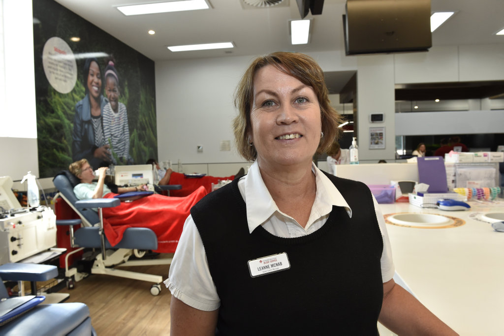 The manager of the Toowoomba Blood Donor Centre, Leanne McNabhas.