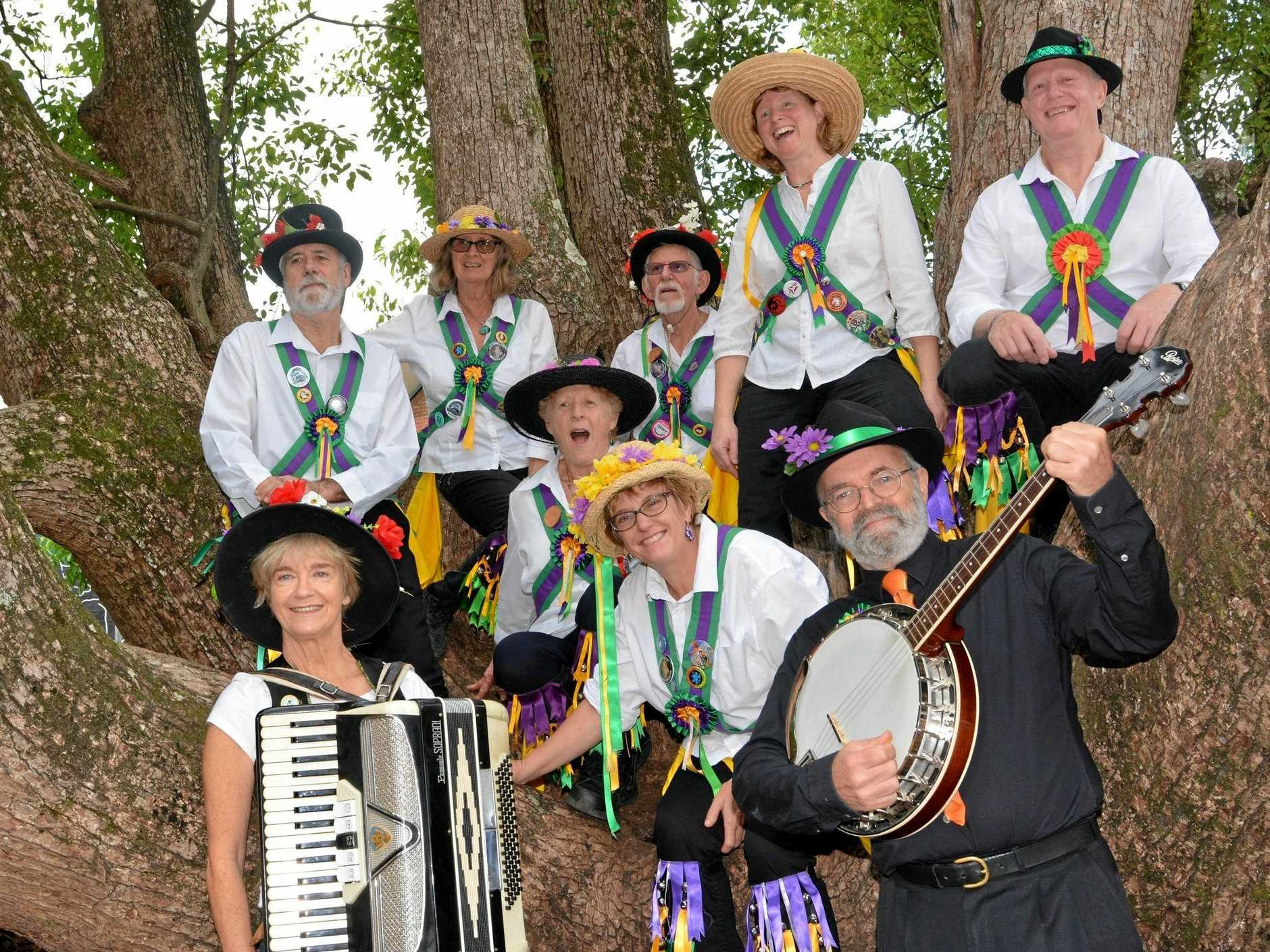 COLOUR AND ACTIVITY: Fiddle Stix Morris dancers colour up any event with dance and music.
