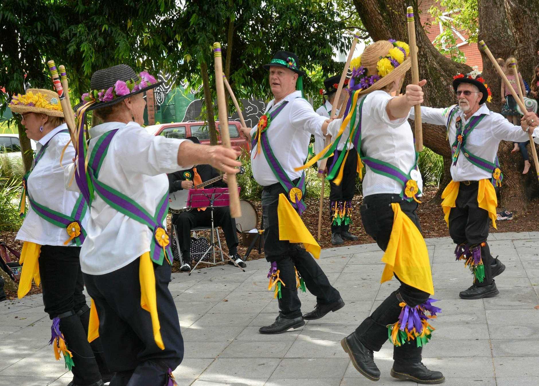 Fiddle Stix Morris dancers colour up any event with dance and music.