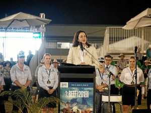 WATCH: Walk-out as Palaszczuk makes beefed up Rocky promise