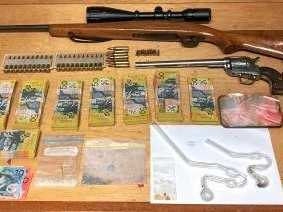 Meth, ammo and guns seized in Proserpine