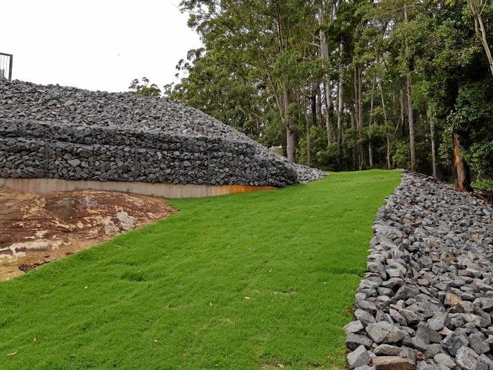 Left embankment upgrade complete at Cooloolabin Dam.