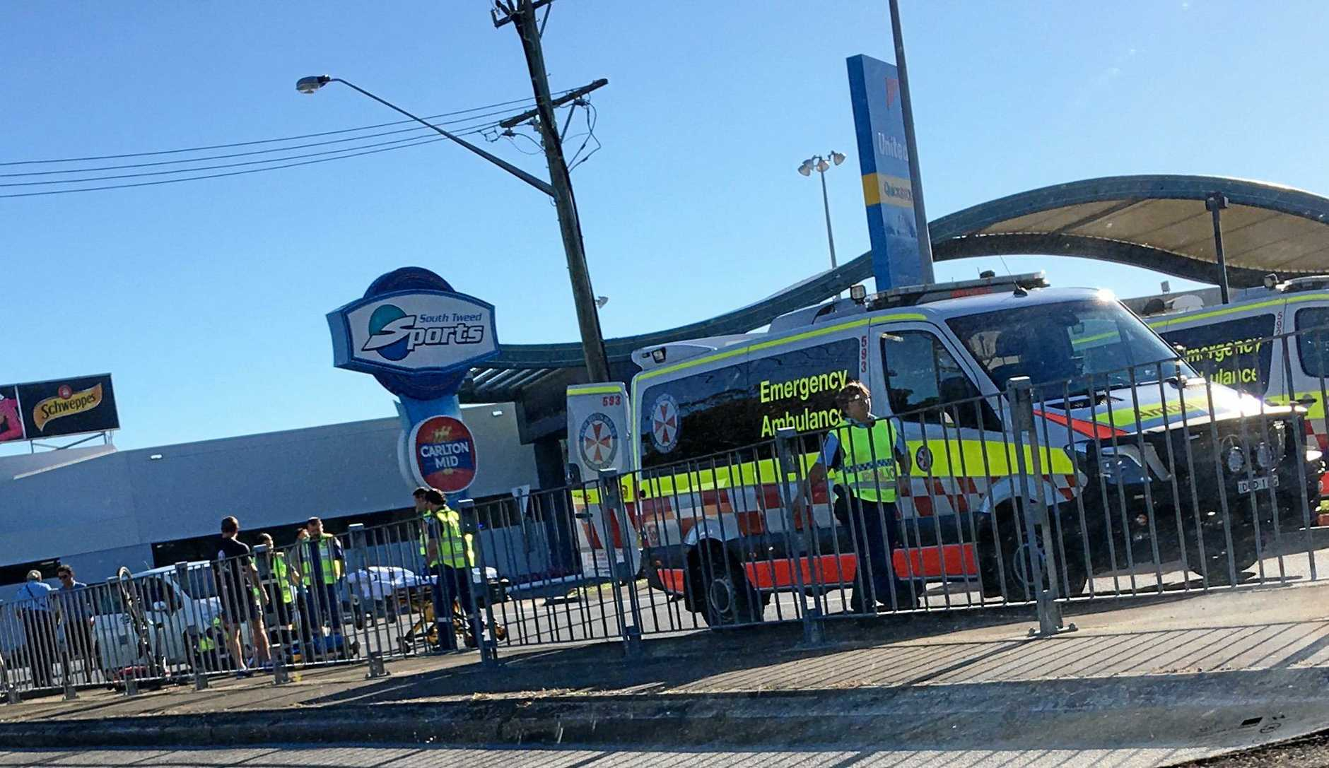A man was reportedly hit by a cyclist in Tweed Heads South this morning.