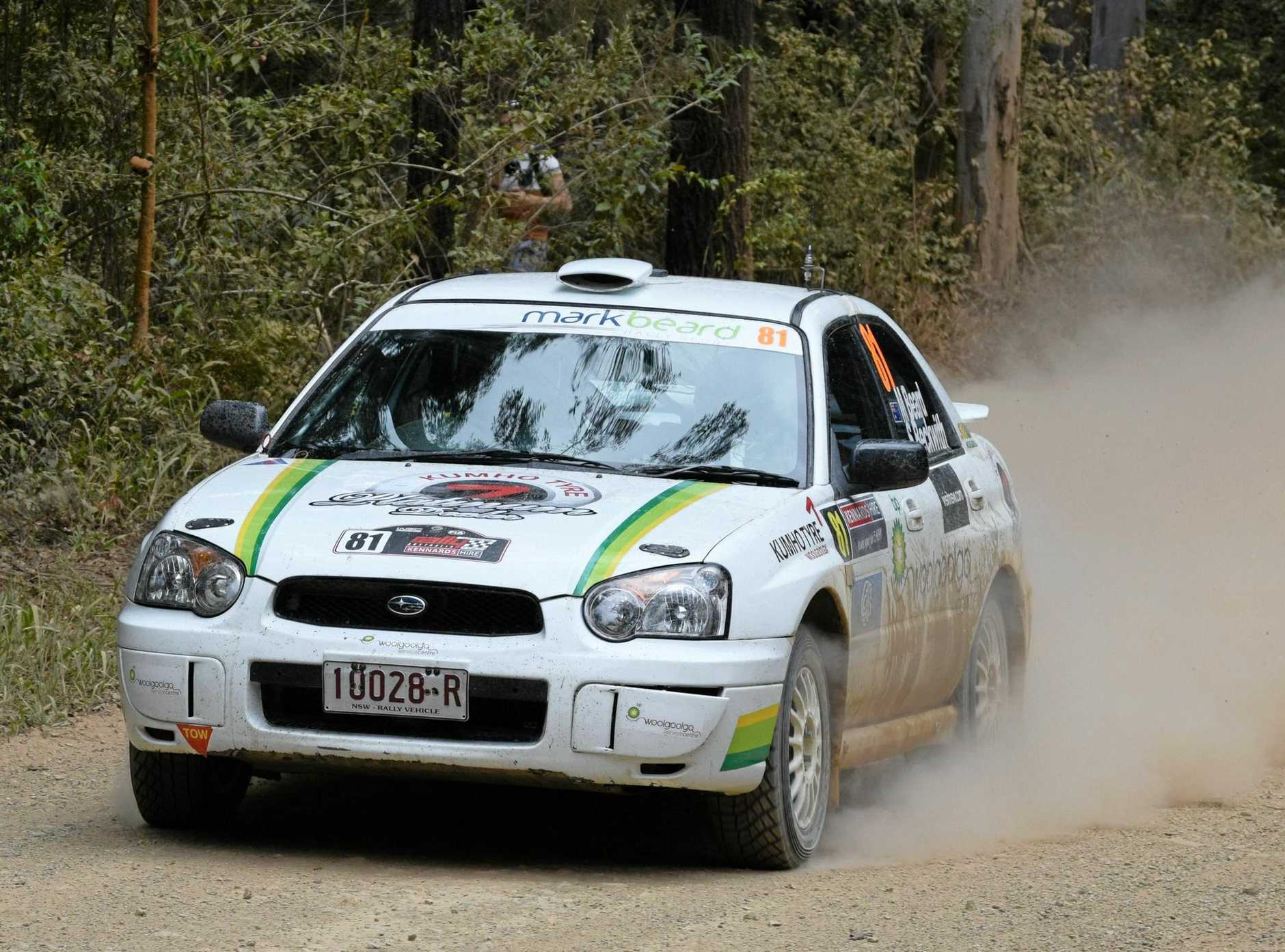Woolgoolga driver Mark Beard takes on the big boys in the Kennards Hire Rally Australia and organisers are encouraging others to follow suit.