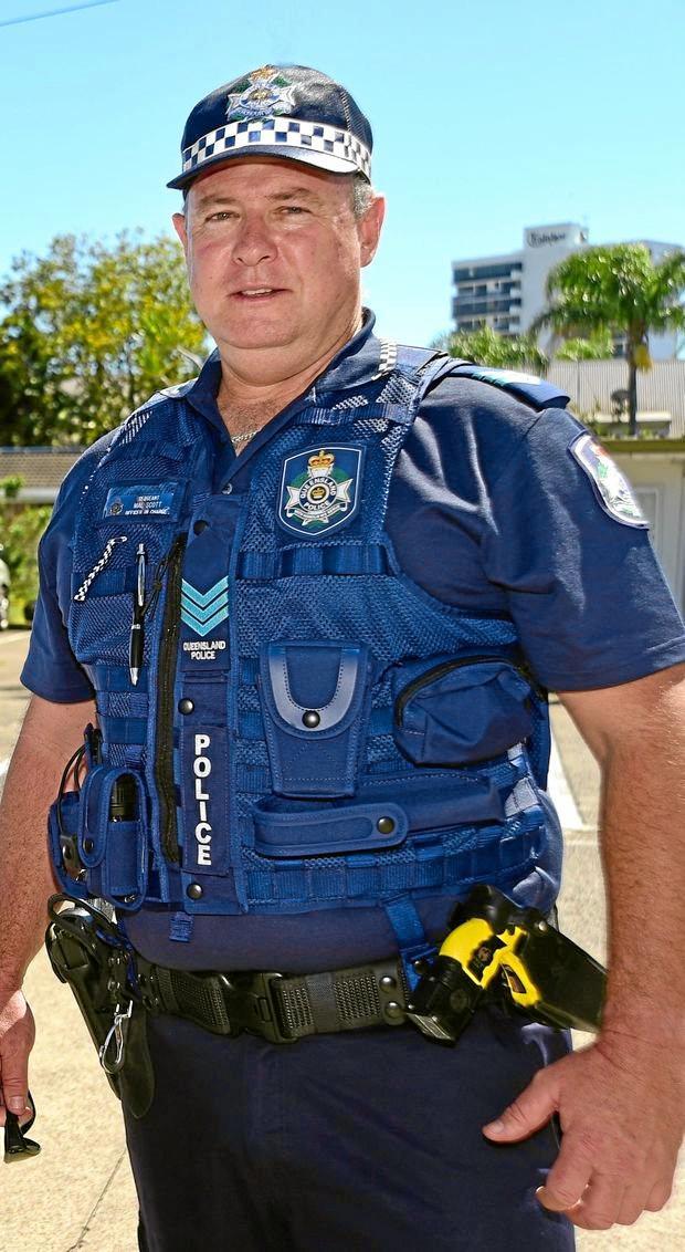 WELL DONE: Sergeant Mal Scott has been honoured.
