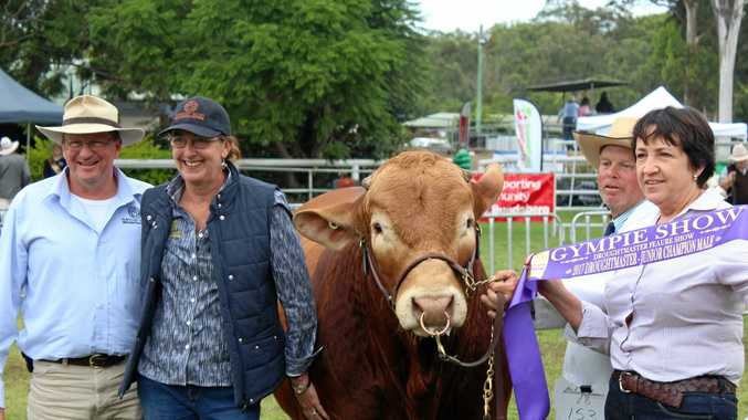 WINNING FEELING: Sarah and Nick Hughes had plenty to smile about at Gympie Show last year. And they are still grinning.