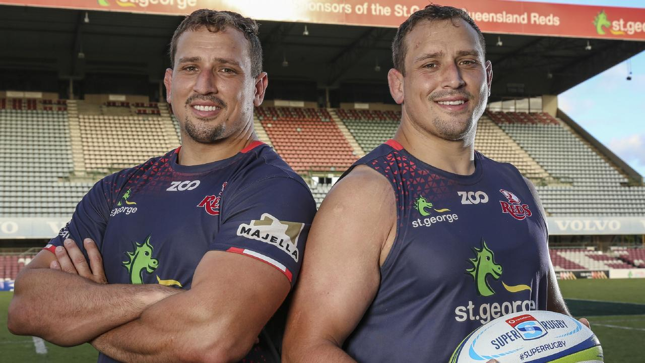 Reds props JP (left) and Ruan Smith won't be playing against the Sunwolves on Saturday.