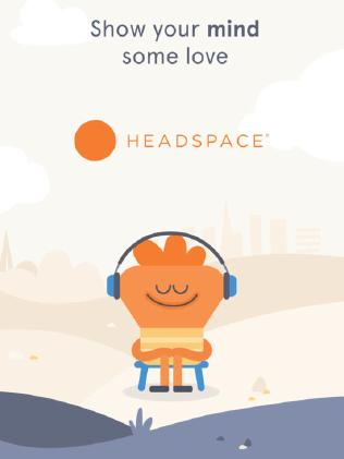 The Headspace app.