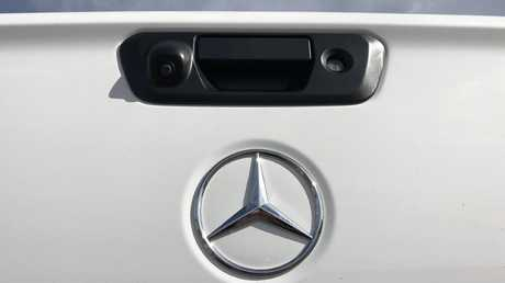 The rear-view camera has a clearer image than most other utes. Picture: Joshua Dowling.
