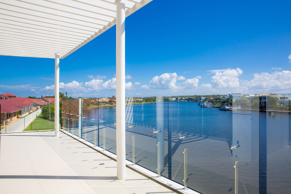 A shot off the balcony of one of the apartments at the TriCare Kawana Waters Aged Care Residence.