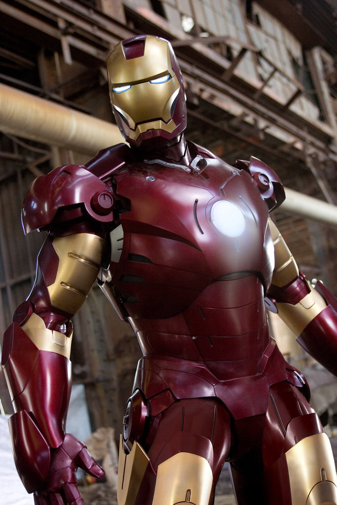 In this photo released by Marvel Entertainment, Iron Man is shown in his Mark III armor in a scene from