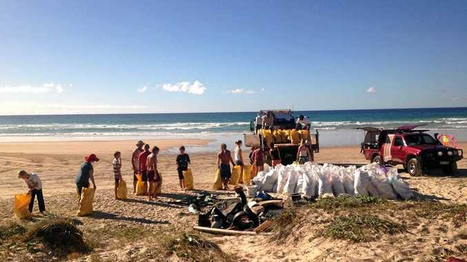 CLEAN GAIN: Surfriders have organised the next North Shore beach clean up on .
