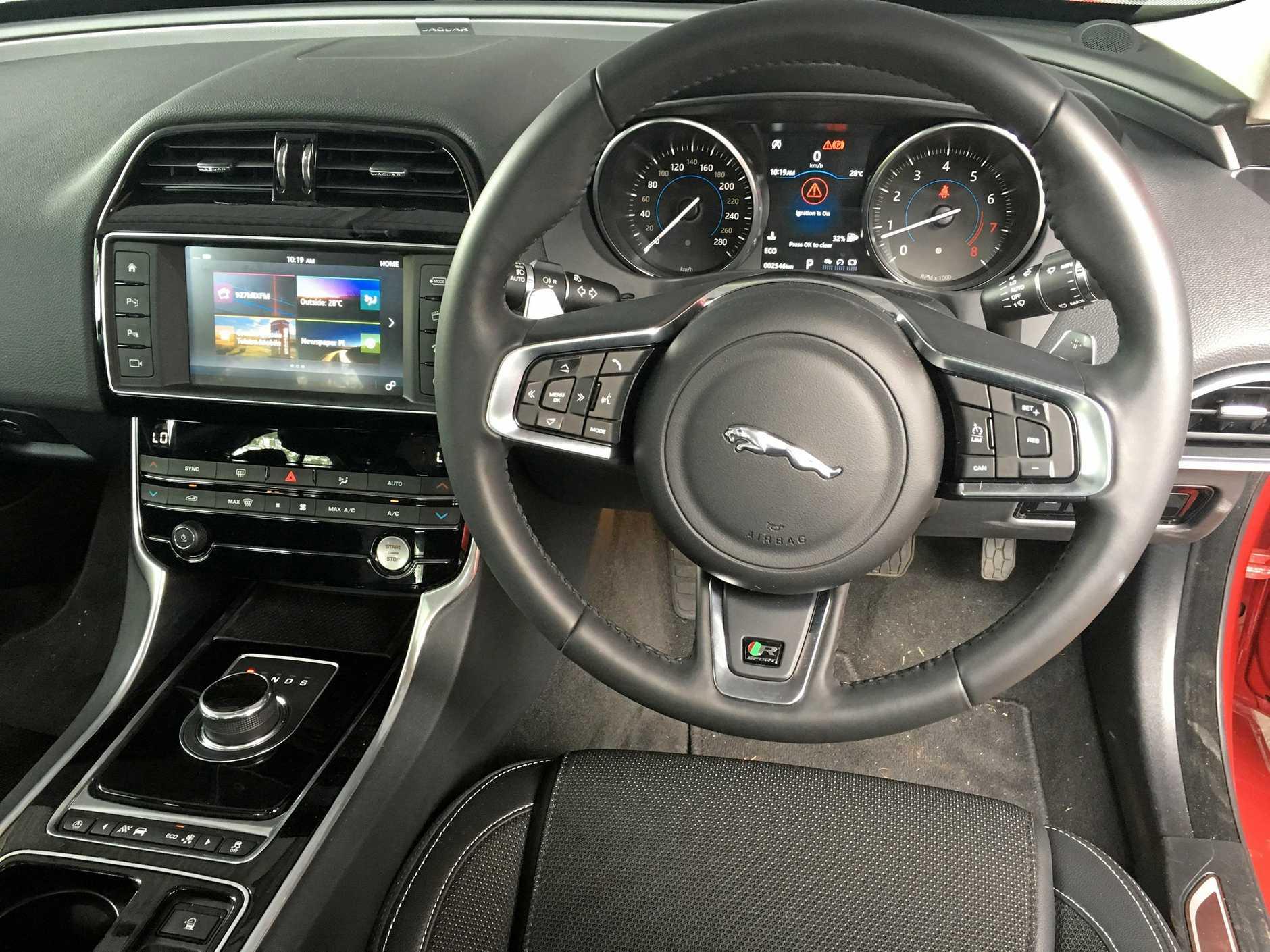 The 2018 model  Jaguar XE R-Sport 20t.