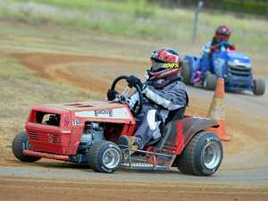 Ready, set, mow: Drivers rev up for action at Yaamba track