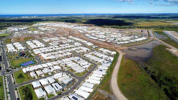 DRONE: Aerial photos of the new housing development at Aura, Sunshine Coast.