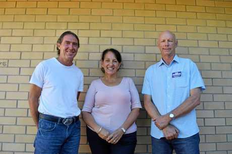 The three candidates Tim Jerome, Julie Walker, Bob Fredman