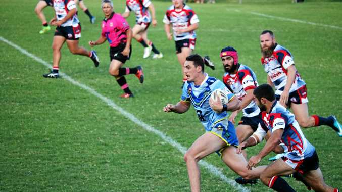 LEADING THE CHARGE: Adam Walker scored last week when the Senior Mustangs defeated Kyogle 26-18.