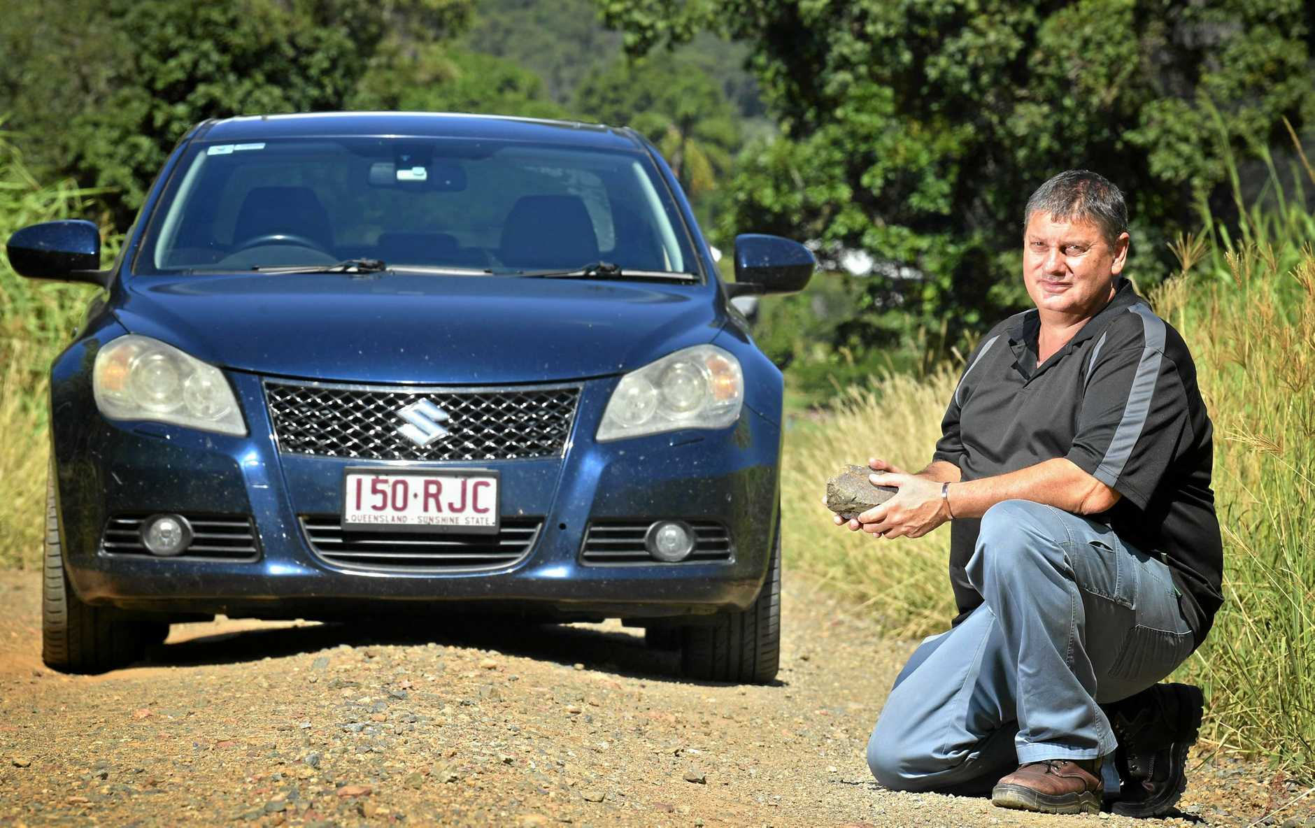 Michael Brown from Calico creek in Gympie is unhappy about his road.
