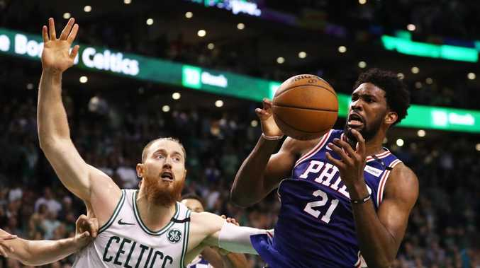 Aron Baynes got away with one on Joel Embiid.