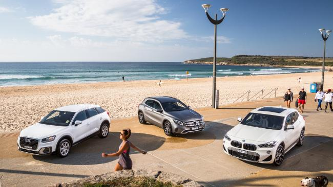 Audi Q2, Mercedes-Benz GLA and BMW X2. Pictures: Thomas Wielecki