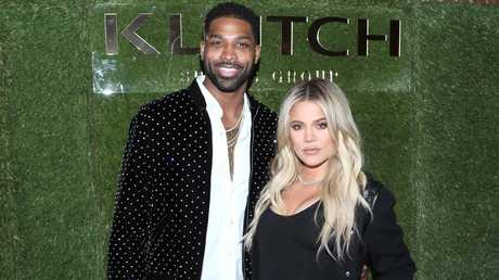 Khloe is standing by her man. Picture: Jerritt Clark/Getty Images for Klutch Sports Group