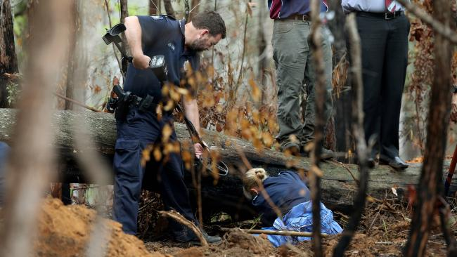 Police search the Numinbah Valley in 2015 for the remains of missing Gold Coast women Linda Sidon. Picture: Adam Head.