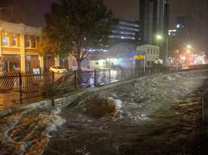 Cars swept away as wild weather floods Hobart