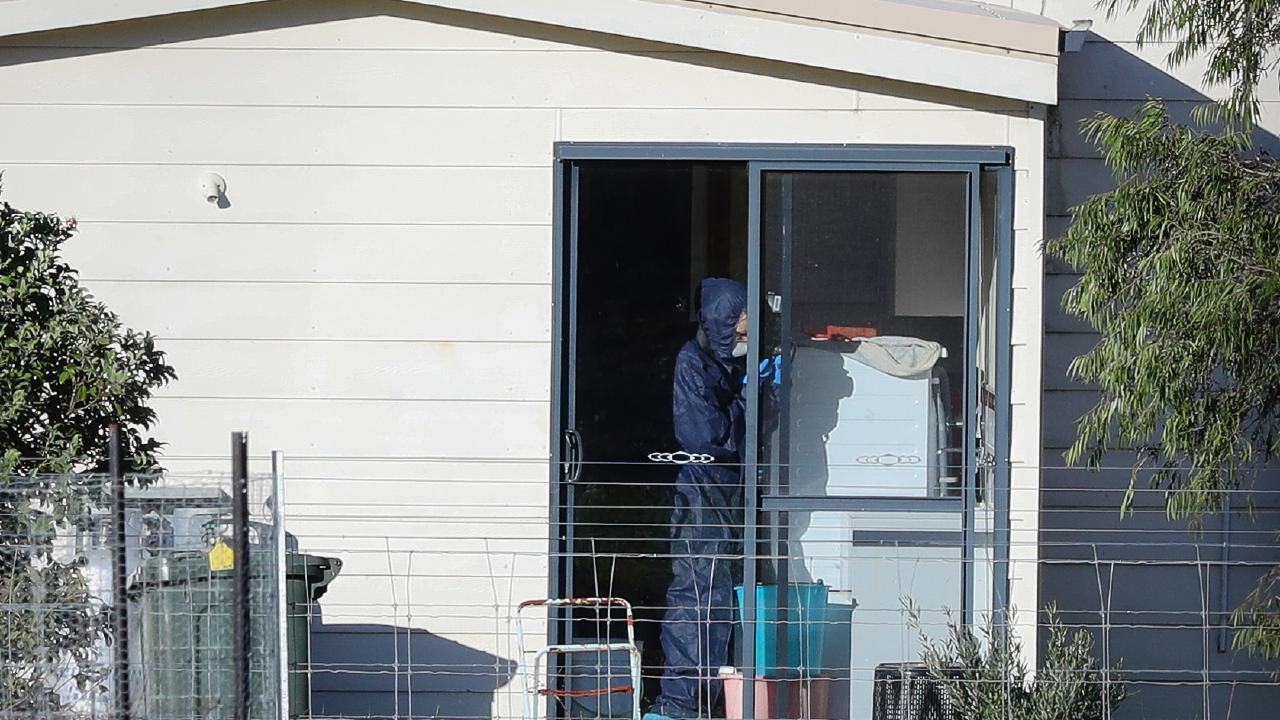Police forensics investigate the death of seven people in a suspected murder-suicide in Osmington, east of Margaret River, Picture: AAP Image/Richard Wainwright.
