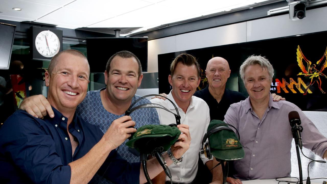 Triple M cricket commentary team Brad Haddin, Gus Worland, Brett Lee, Kerry O'Keeffe and Jules Schiller won't be continuing on this summer. Picture: Craig Wilson