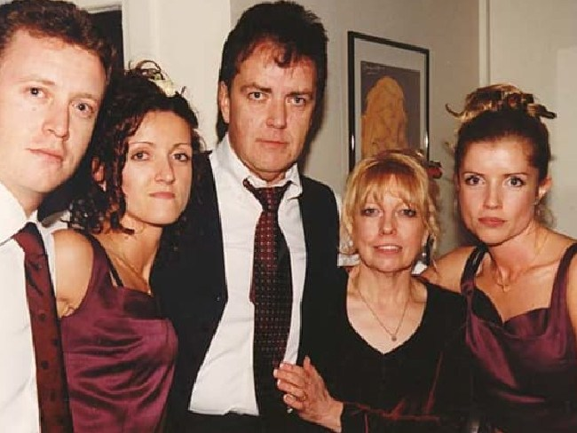Murder victims Terence and Christine Hodson (centre) with children Andrew (left), Nicola and Mandy (far right). Picture: Reproduced with permission from the Hodson family