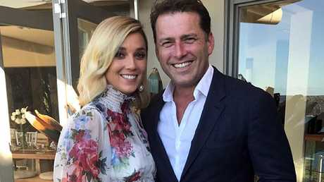 Jasmine Yarbrough and Karl Stefanovic at their commitment ceremony