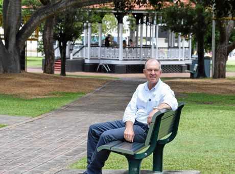 Gympie MP Tony Perrett chills in Memorial Park.