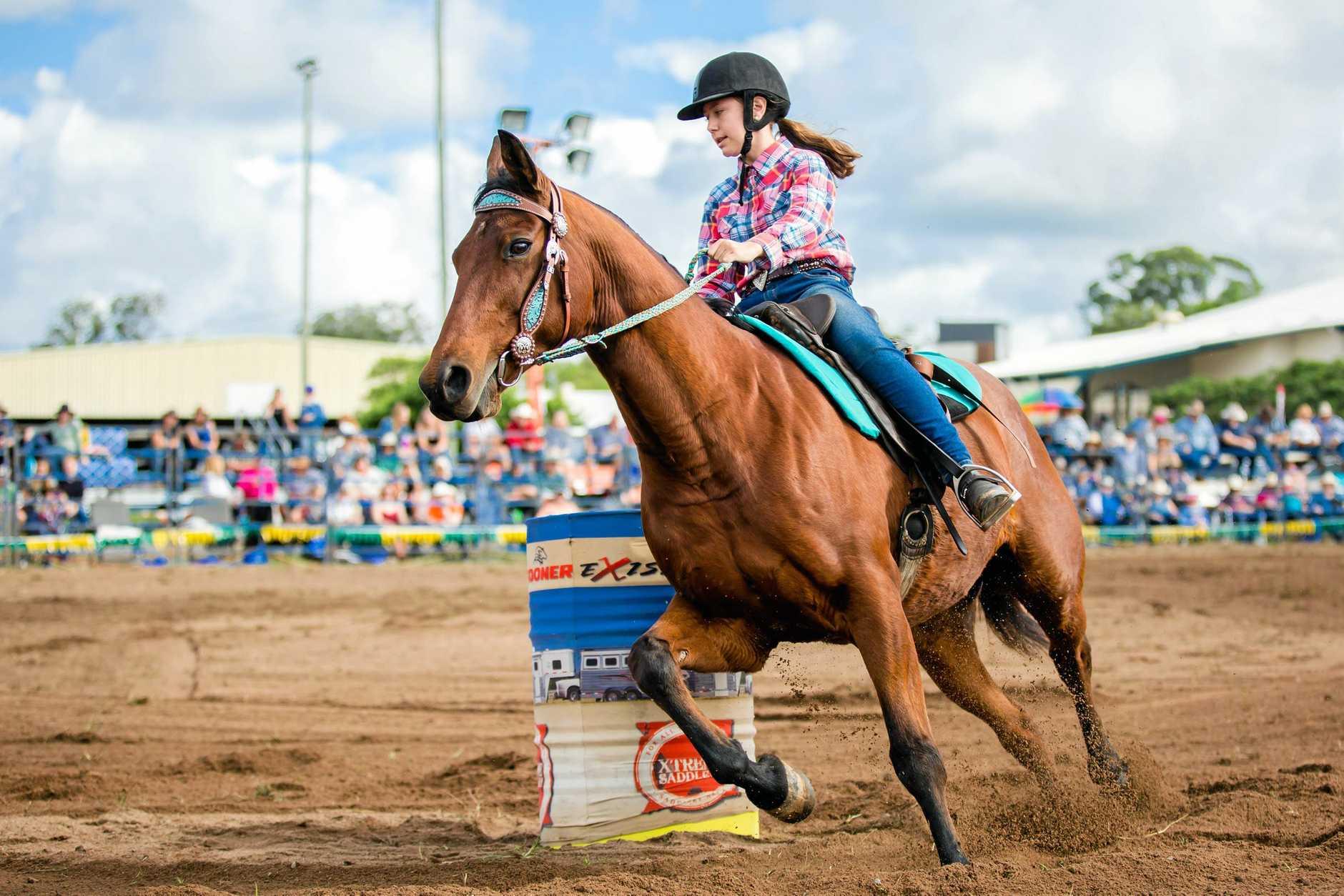 Gympie Show Rodeo - Hayley Millard U/18 Junior Barrel Race