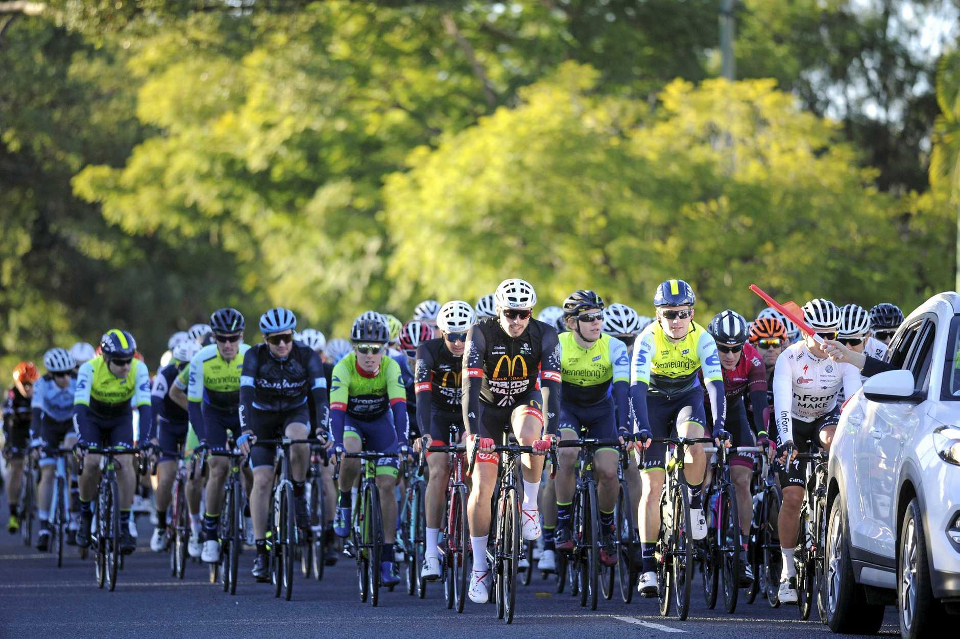 Competitors in the Cycling Australia National Road Series kickstarted their season on South Grafton's Ryan Street during the 58th annual David Reid Homes Grafton to Inverell Cycle Classic.