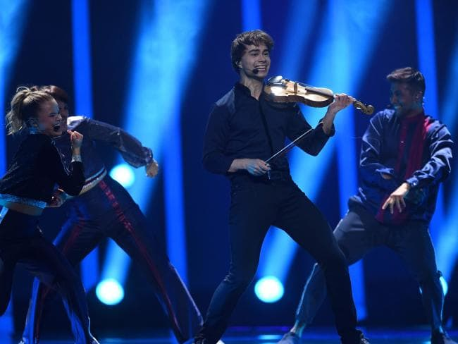 Norway's singer Alexander Rybak performs the song That's How You Write A Song during the second semi-final of the 63rd edition of the Eurovision Song Contest 2018. Picture: AFP