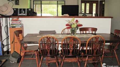 The dining area inside the family farm. Picture: CoreLogic