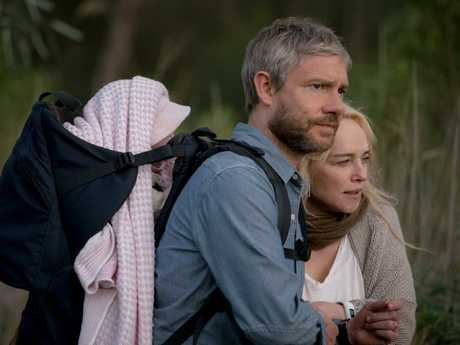 Martin Freeman and Susie Porter with baby Rosie.