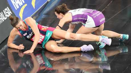 It was a real battle on the court. Picture: David Crosling/AAP