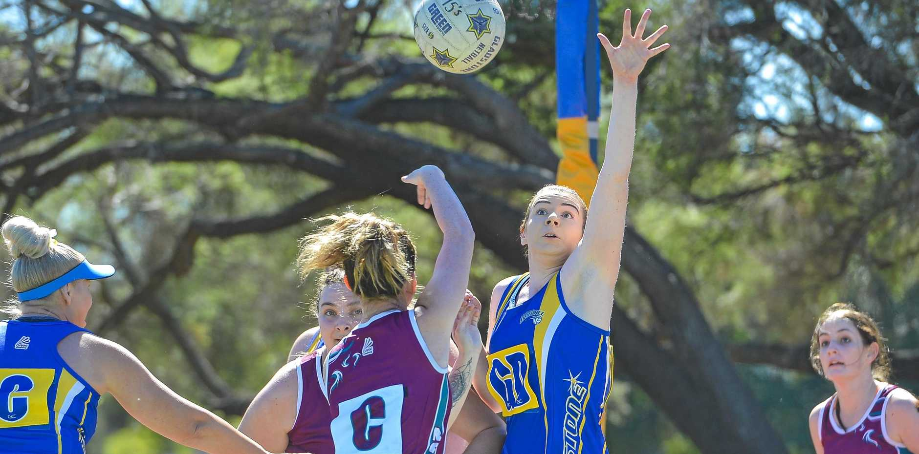 HAND UP: Olivia Whitla showed her great defensive skills against a classy Rockhampton team on Saturday. Round two of the Queensland Premier League games are on June 2.