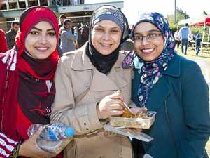 Visitors united by food, faith at mosque