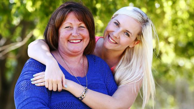 Yvonne Salo, pictured with daughter Stephanie Bedo, had her arm removed at a Gold Coast hospital where it somehow went missing.