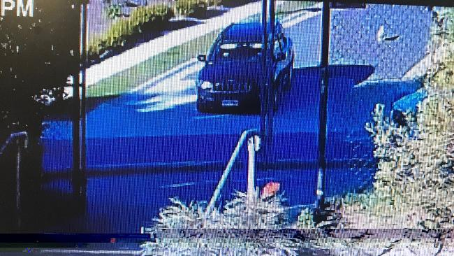 CCTV image of the black SUV the young boy was pulled into. Picture: AAP Image/Queensland Police