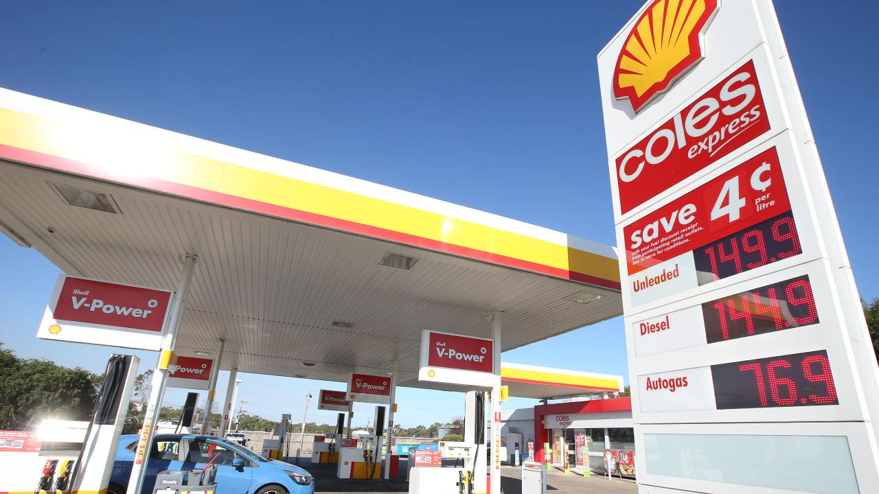 The average prices at Coles Express outlets are consistently higher in five of the nation's capital cities, including Brisbane. Picture: Glenn Ferguson