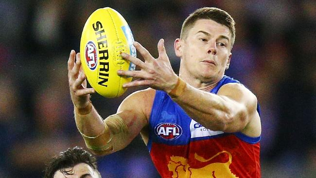 Dayne Zorko competes against the Bulldogs but could not get the Lions home. (Photo by Michael Dodge/Getty Images)