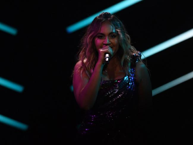 Australia's singer Jessica Mauboy puts on a dazzling performance at Eurovision.