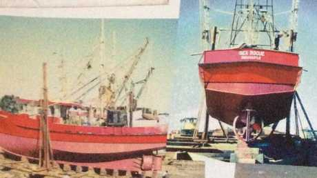 Michael's snaps of Sea Rogue in dry dock. Picture: Supplied