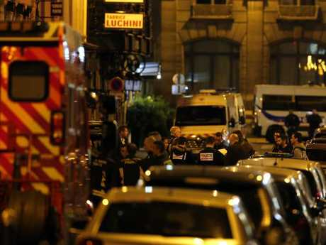 Two people are dead, including the attacker, and several are injured. Picture: AP